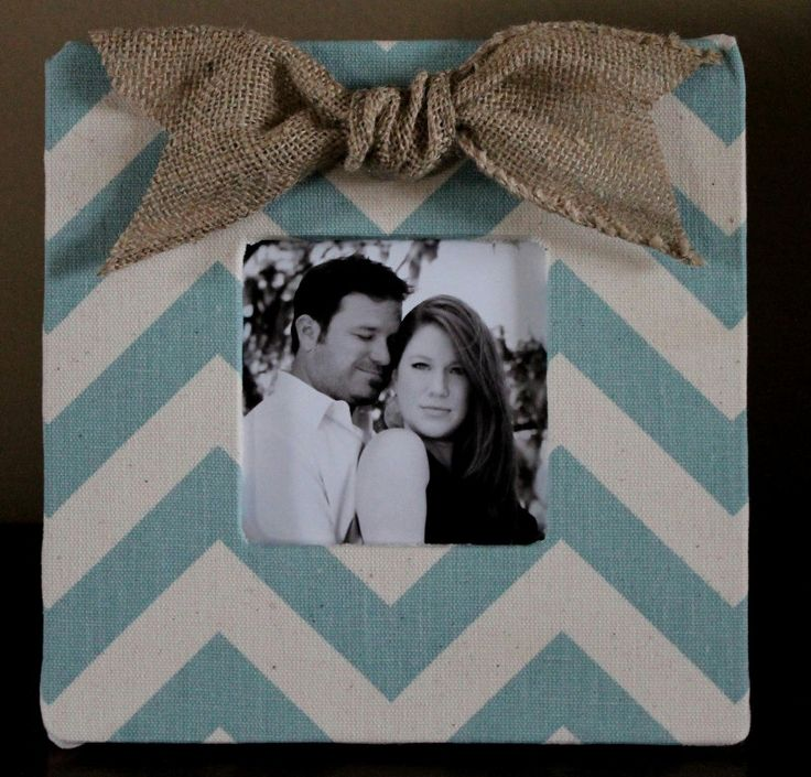 This shop has SO MANY adorable things I NEED for my home! :)   Chevron Frame with a Burlap Bow by AnnaKayDesigns on Etsy, $15.00