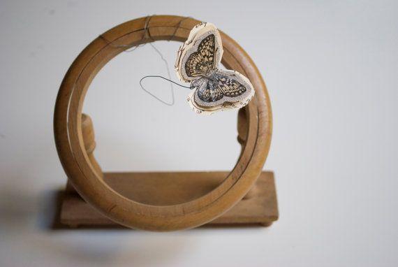 Vintage embroidery hoop stand display