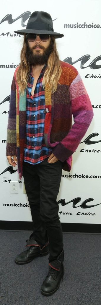 Jared Leto can out-colorblock everyone.