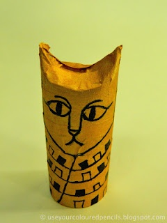 Egypt: cat mummiesEgyptian Cat Art Lessons, Toilets Paper Rolls, Toilet Paper Rolls, Education Ideas, Egypt Projects For Kids Ideas, Cat Mummy, Ancient Egypt Projects, Colours Pencil, Black