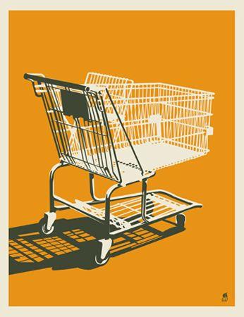 SHOPPING CART « Limited Edition Art Posters « Methane Studios   (screenprint)