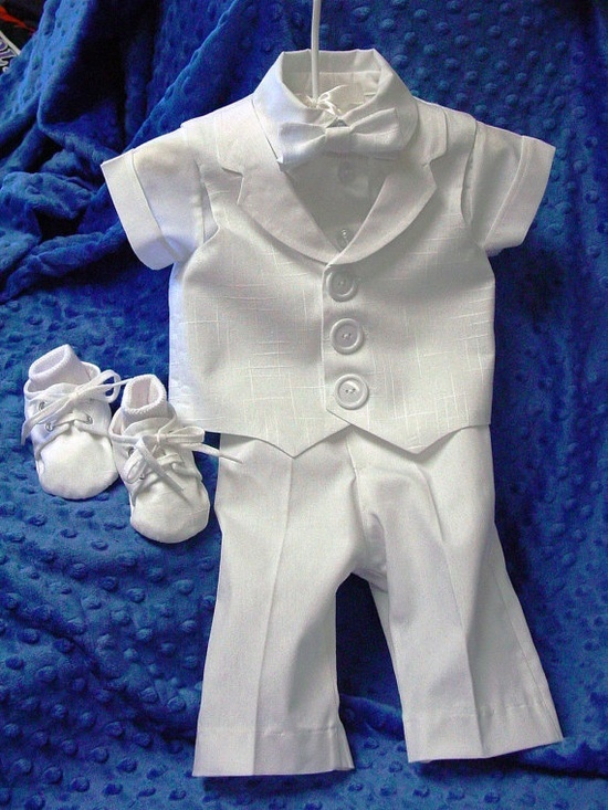 Baby Boy #blessing outfit, complete with little booties