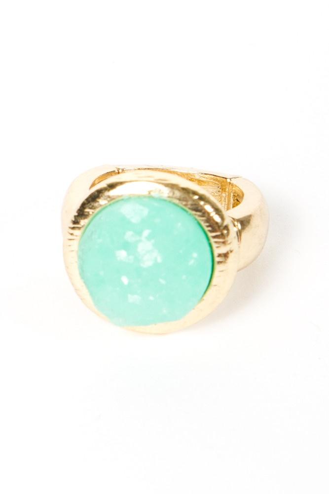 Mint Circle Ring: Gems Rings, Circle Rings, Circles Rings, Mint Circles, Mint Gold, Like Rings, Gold Rings, Stones Rings, Gold Circles