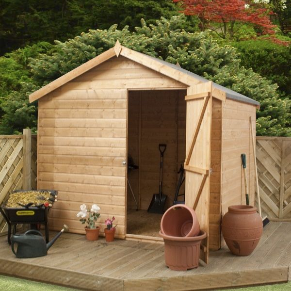 6 x 8 waltons windowless tongue and groove reverse apex garden shed on walton garden buildings