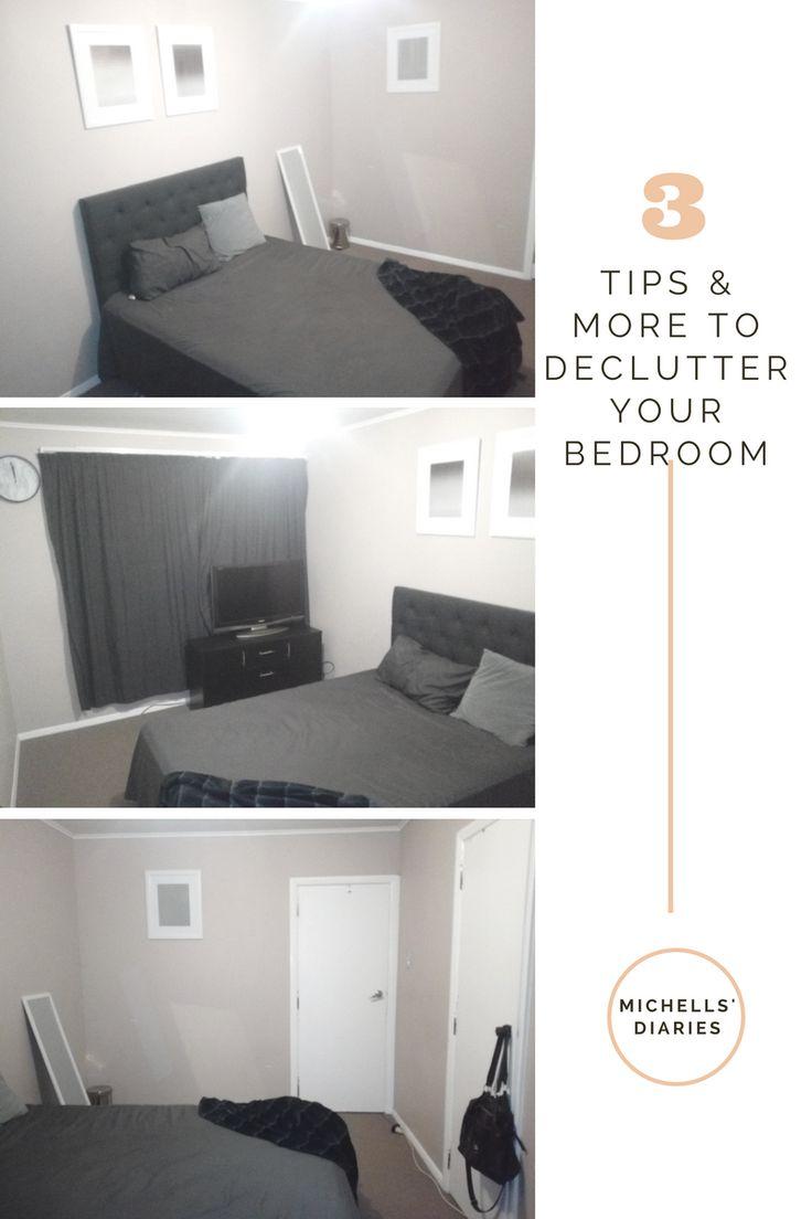 De-clutter bedroom, minimalism