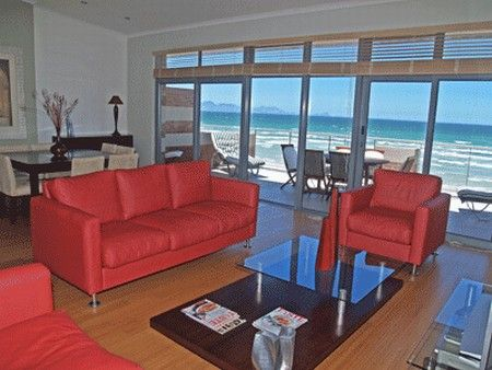 Self Catering Accommodation, Muizenberg, Cape Town  Modern lounge area with fabulous sea and beach views