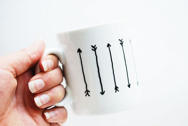 You just need a steady hand and a paint marker for this cute mug, via Wild Olive.