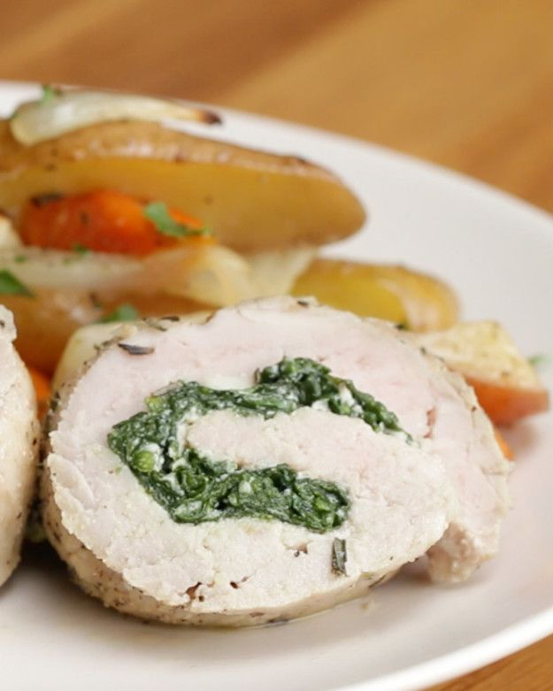 Spinach and Cheese Pork Roll