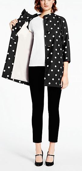 Polka dot coat by kate spade new york www.revolvechic.com/