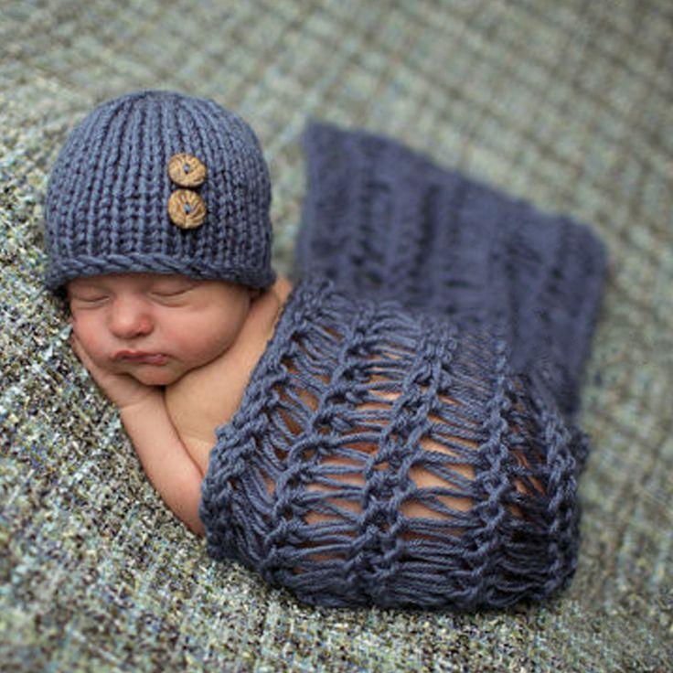 Newborn Baby Photo Props Girls Boys Crochet Costume Photo Baby Photography Props