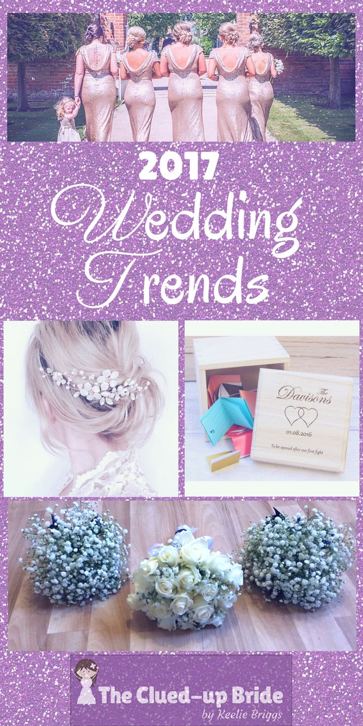 Tons of lovely wedding inspiration for 2017 brides from gypsophelia bouquets, photography ideas, DIY entertainment and creative food ideas, find it all here...