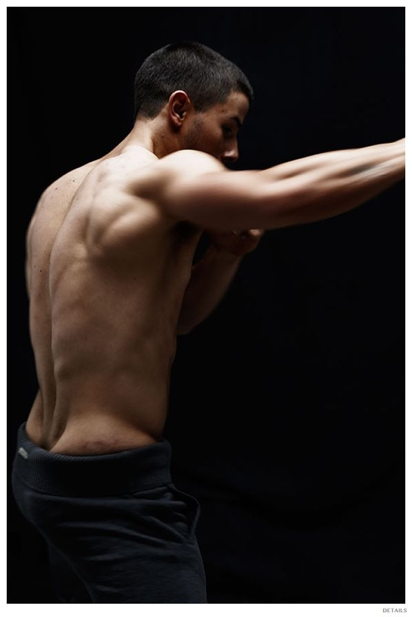 Nick Jonas Poses for Details November 2014 Photo Shoot: Talks Kingdom Workout