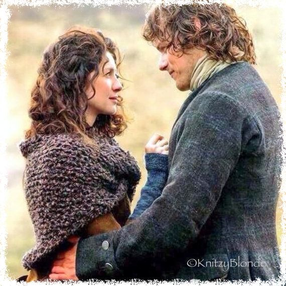 Claire Sassenach Shawl Wrap Hand Knit Outlander by KnitzyBlonde - http://KnitzyBlonde.etsy.com