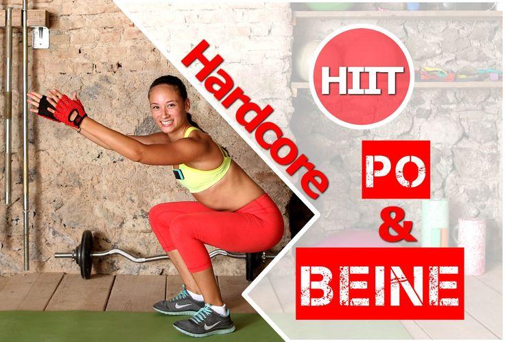 Oberschenkel trainieren / Po Workout - Schlanke Beine trainieren - Übung...