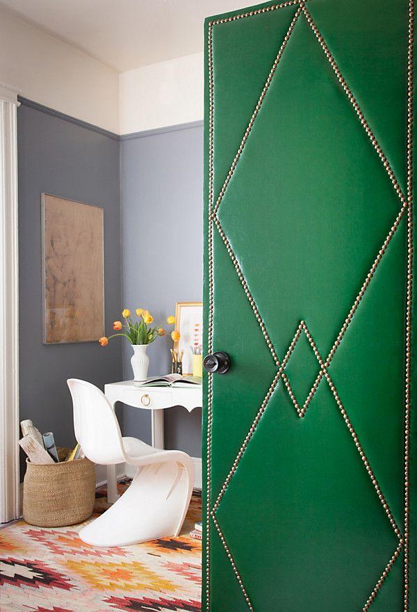 Feeling bold? Try upholstering your door!