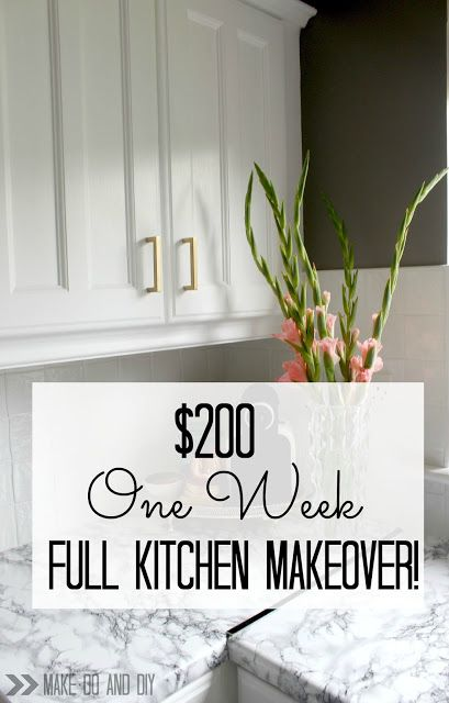 €200. One week. Full kitchen makeover! www.makedoanddiy.com