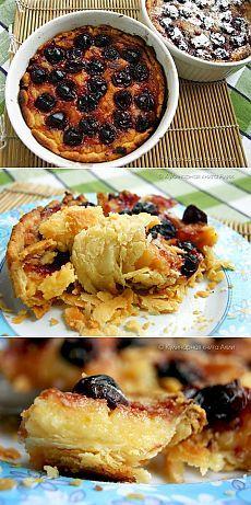 Португальские пирожные с вишней.
