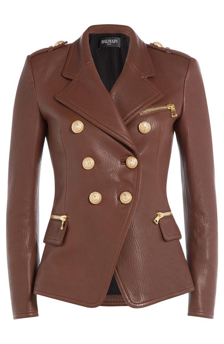 BALMAIN Leather Blazer. #balmain #cloth #leather jackets