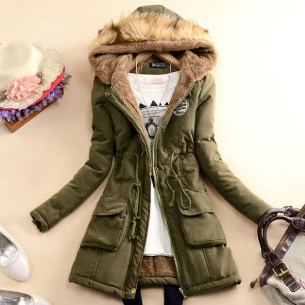 Cool! Slim Wool Hooded Long Winter Cotton Coat just $47.99 from ByGoods.com! I can't wait to get it!