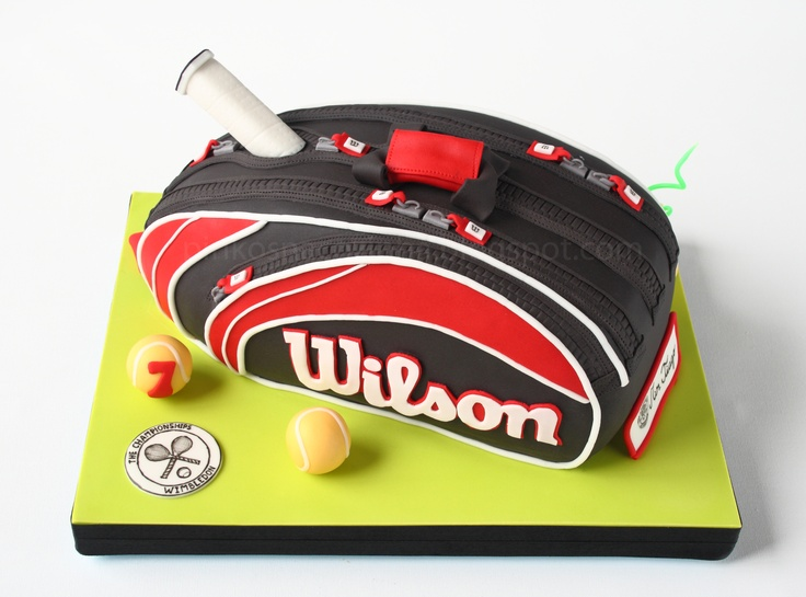 Tennis Bag Cake - Chocolate Cake with Raspberry Curd filling; 2.750 kg