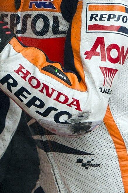 Most drag knees... only a few drag elbows! 2013 Moto GP Champion Marc Marquez