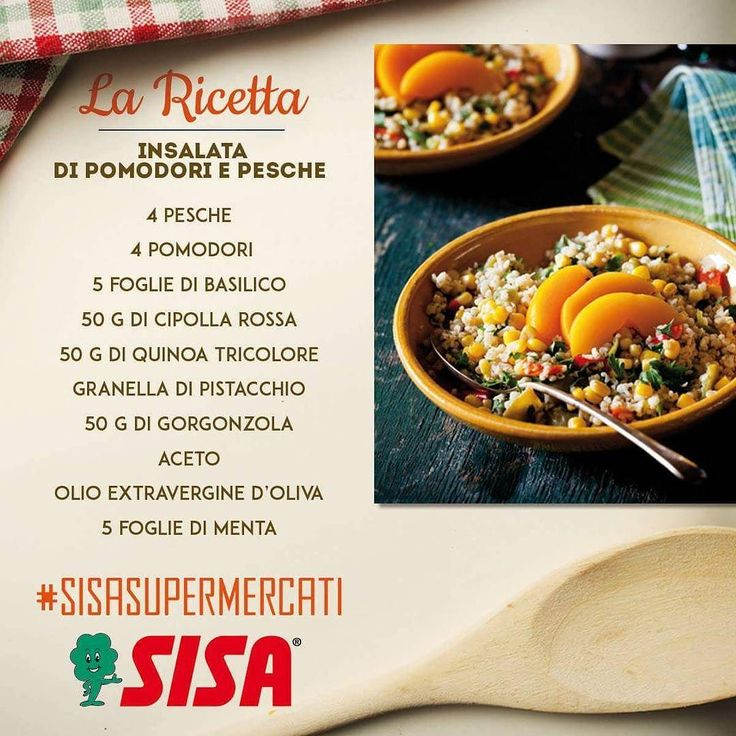#SISAsupermercati #ricette  INSALATA DI POMODORI E PESCHE  Preparazione…