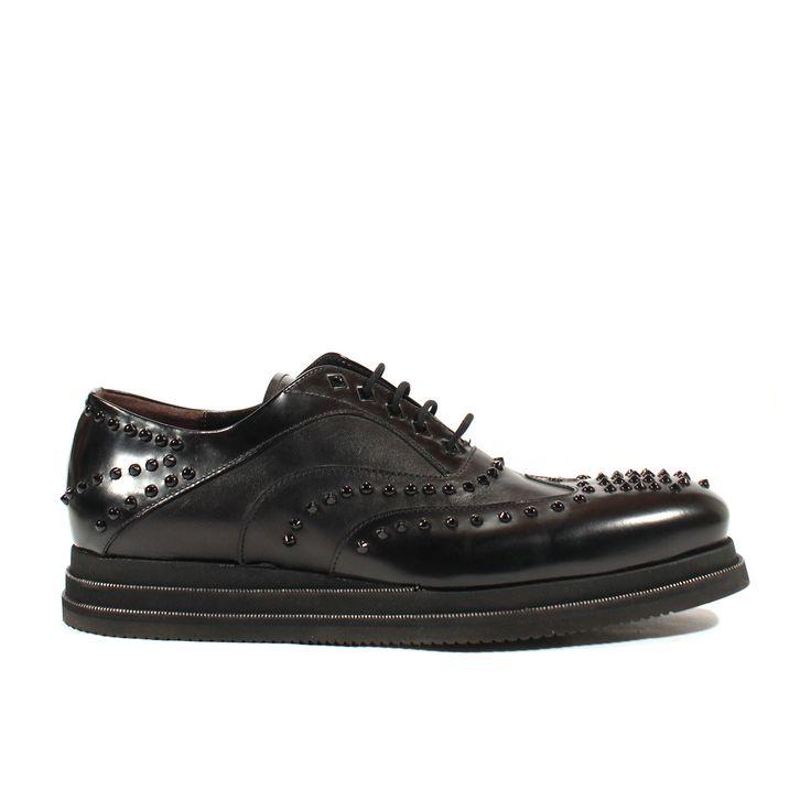 Cesare Paciotti Mens Shoes Magic Old Black Nappa Leather Oxfords (CPM2549)