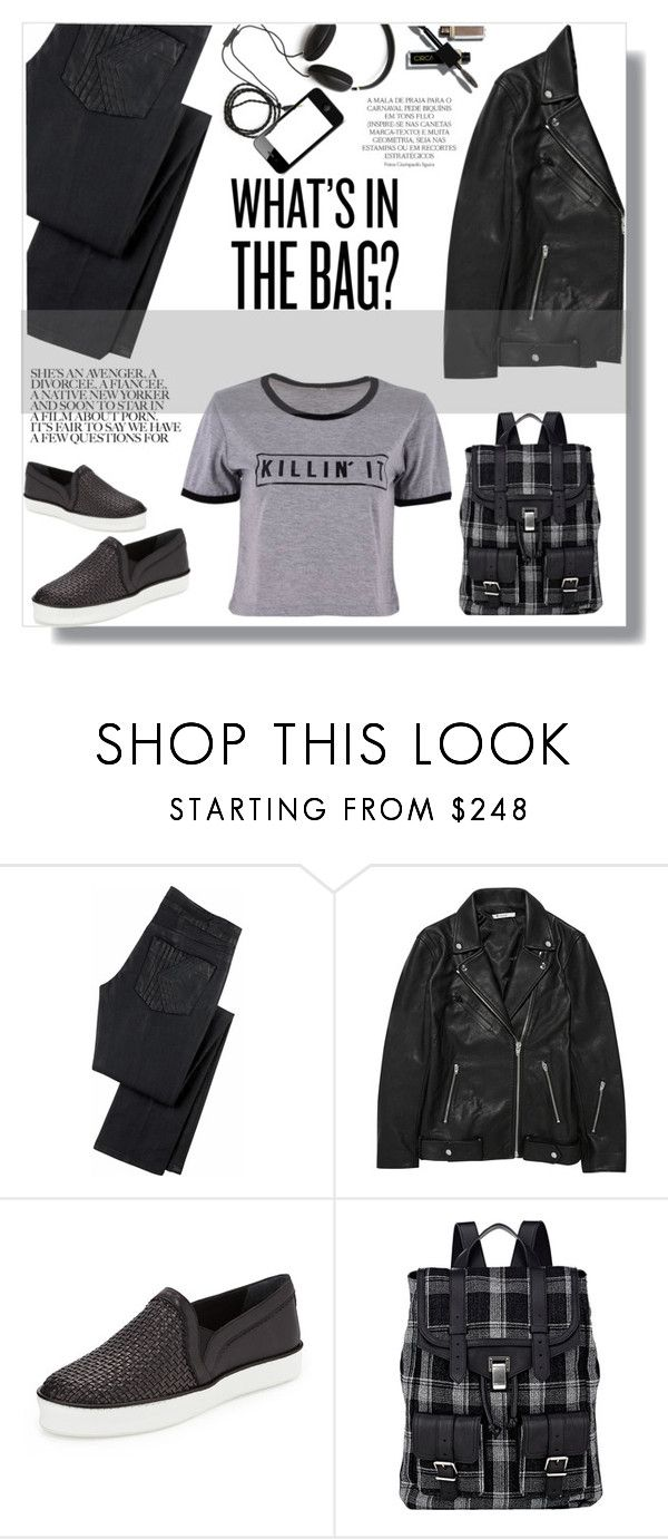 """Black"" by olx-kz ❤ liked on Polyvore featuring K Karl Lagerfeld, T By Alexander Wang, Stuart Weitzman, Proenza Schouler, Molami and Magdalena"
