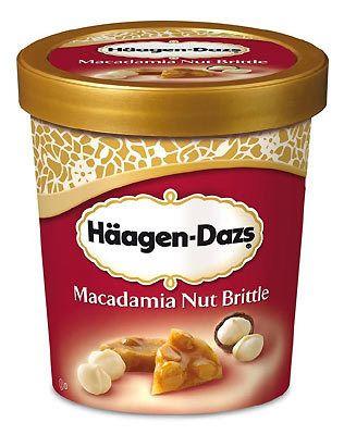 Macadamia Nut Brittle Ice Cream