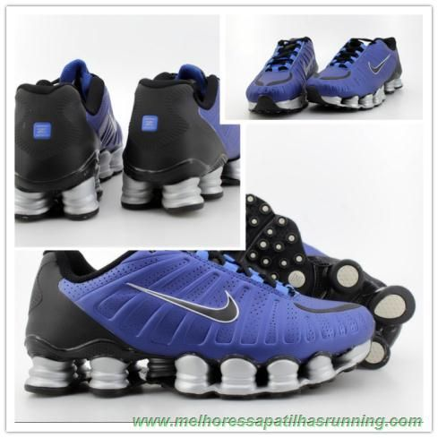 comprar tenis online Nike Shox TLX Azul / Cinza Preto TLX-006