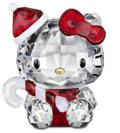Swarovski Crystal Figurine #1142935, Hello Kitty Santa | the Hello Kitty Collectionary