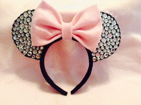 Minnie Mouse Ears Diamond Edition by CrazyBeautifulCreati on Etsy