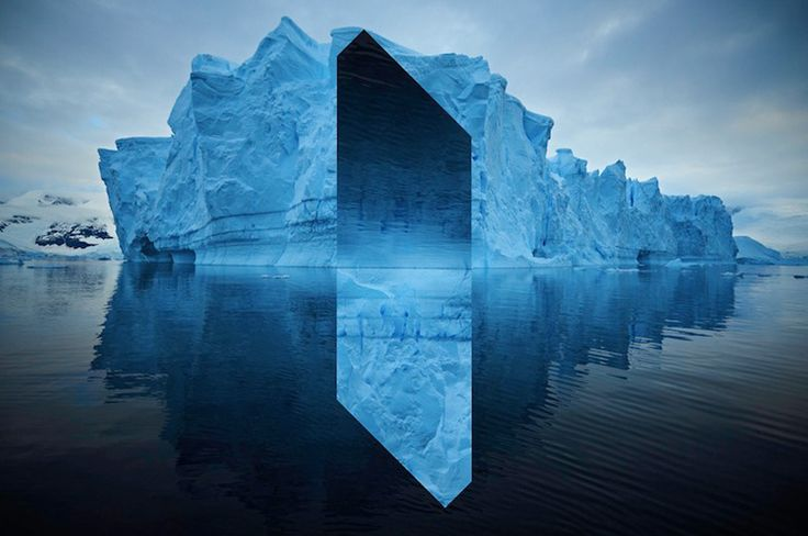 Landscapes distorted with geometric fragments – Landscape Monolith by Reynald Drouhin