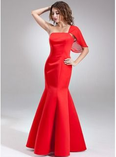 Bridesmaid+Dresses+-+$133.99+-+Mermaid+One-Shoulder+Floor-Length+Chiffon+Satin+Bridesmaid+Dress++http://www.dressfirst.com/Mermaid-One-Shoulder-Floor-Length-Chiffon-Satin-Bridesmaid-Dress-007001890-g1890