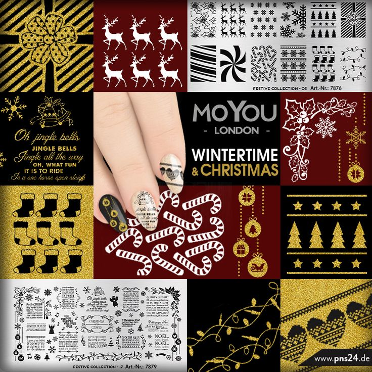 #nailart   #stamping   #xmas   #nails   Heiligabend steht vor der Tür und Ihr müsst schnell noch Eure Nägel in Weihnachtsstimmung bringen? Das geht ganz einfach: Schnappt Euch eine MoYou X-Mas Schablone und los geht's. Eure Martina