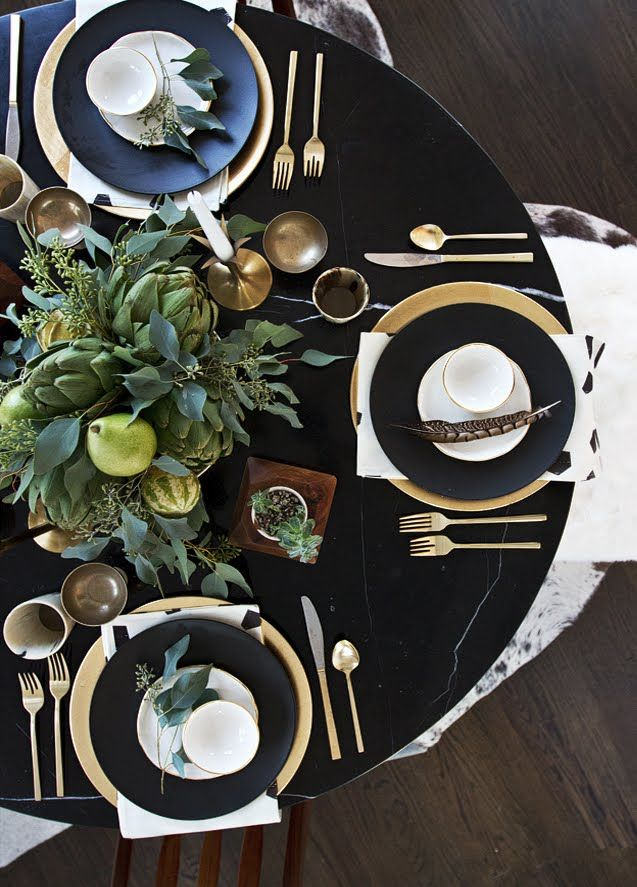 "pin shared by BACKDROP PARTY SHOP; http://www.backdroppartyshop.com Original Designs of Ruffled Plastic Backdrops & ""Over-the-table-top"" Tableskirts, Party Favors & More! *********************************New Years or Golden Anniversary black & gold"