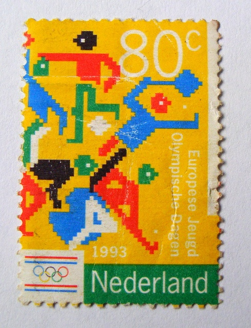 Dutch stamp. Olympics by Stamp Boy, via Flickr