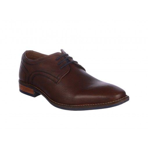 Pantofi Otter maro inchis, din piele naturala