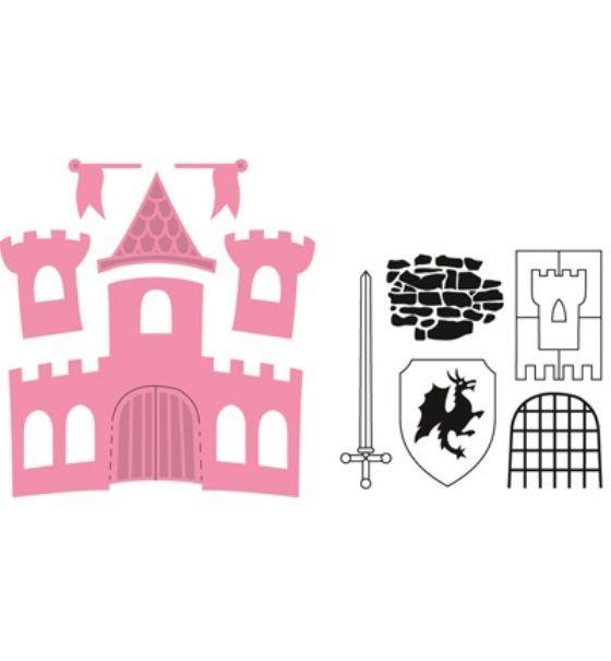 *Burg*Collectables*6 Stanzen*5 Stempel*Castle*Basteln*Kartengestaltung*Einladung*Glückwunsch*Karten*Geburtstag*Scrapbooking*