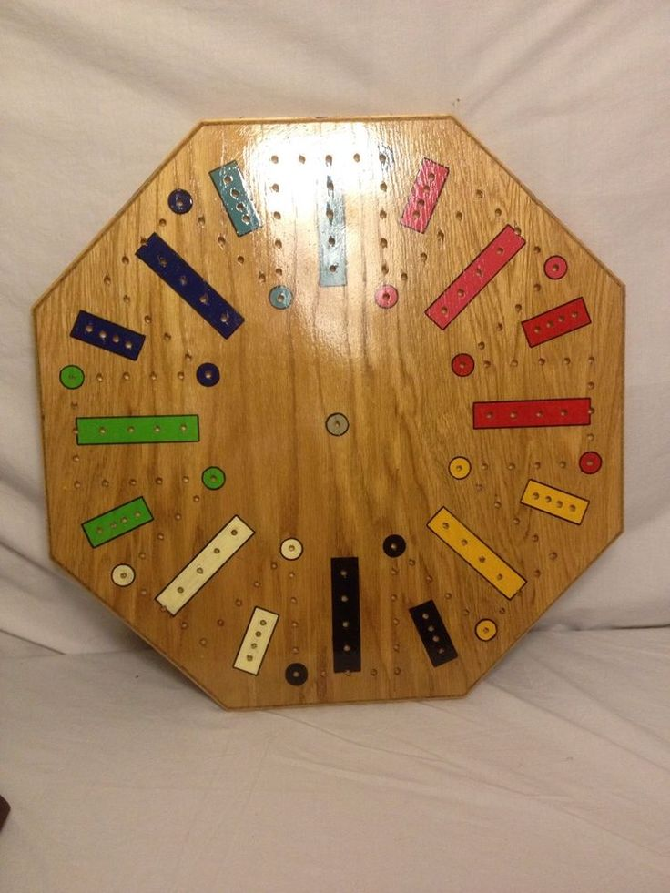 Handcrafted Wooden Fast Track Game Board for 8 eBay