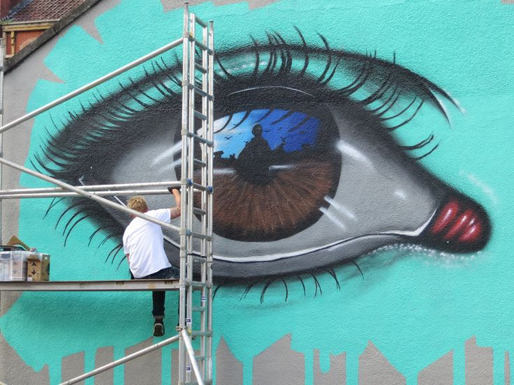 Work in Progress by My Dog Sighs at Upfest 2105 Bristol UK Street Art Festival