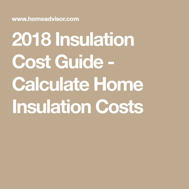 2018 Insulation Cost Guide - Calculate Home Insulation Costs