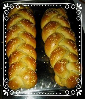 Dale en el link de la pagina para ver la receta. Pan trenzado, pan Jala, comida kosher. Pan Judio. Para celebrar Shabat.