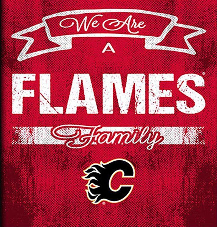 NHL Family Cheer Framed Art - Calgary Flames