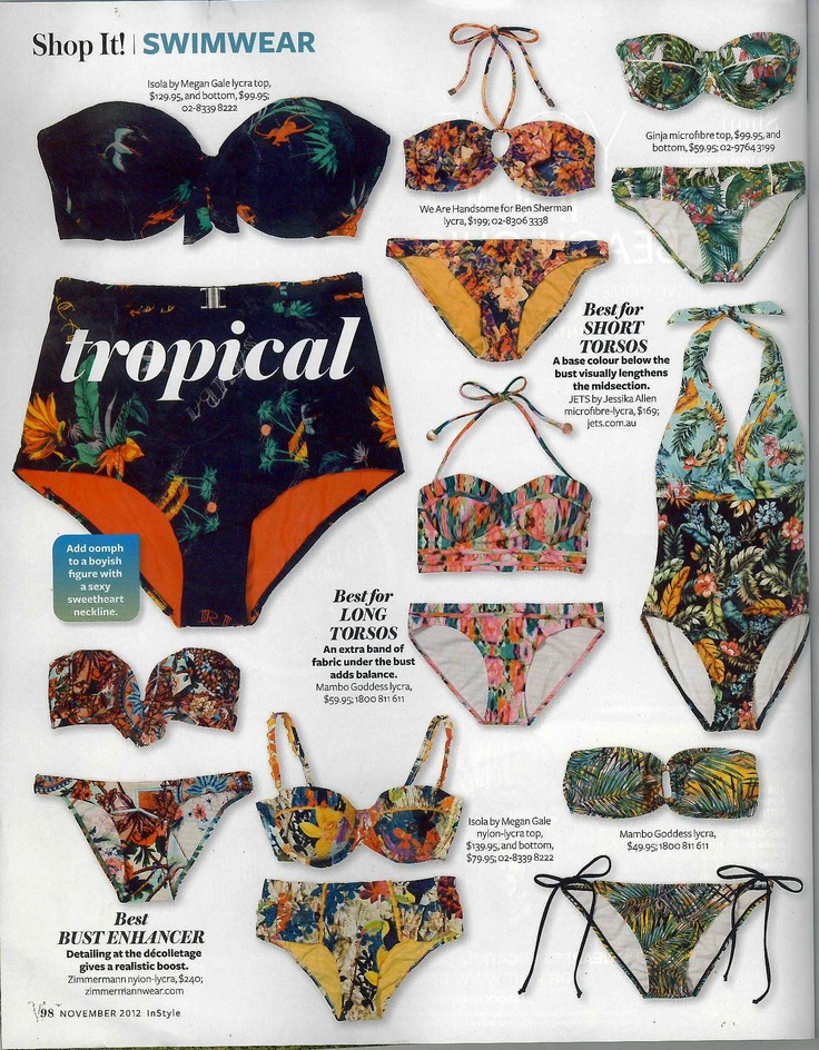 Nov - Print - INSTYLE. Tropical bikini's are all the rage this summer and Mambo is on the ball. Pick up our bikinis in store to make you feel like a Goddess this summer. #mambo #goddess #swim #summer #instyle