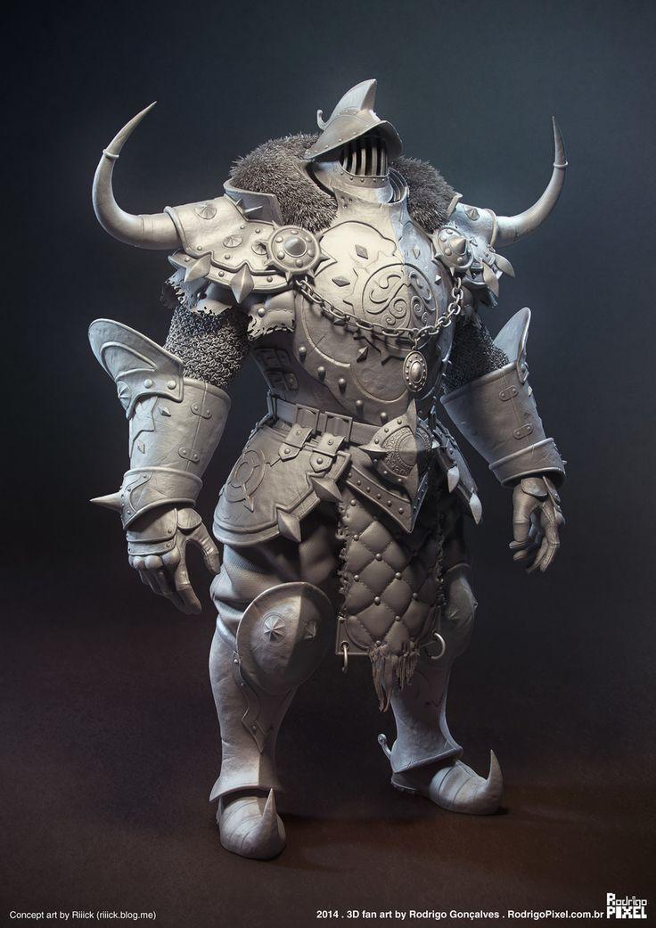 Knight – Fan Art by Rodrigo Gonçalves | Fantasy | 3D | CGSociety