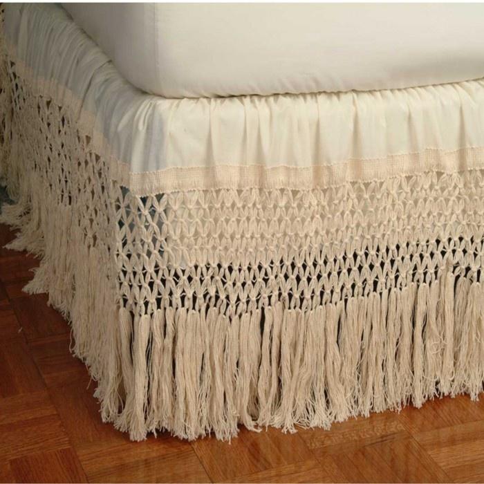 Knotted Fringe Bed Skirt - Bed Skirts & Shams ...