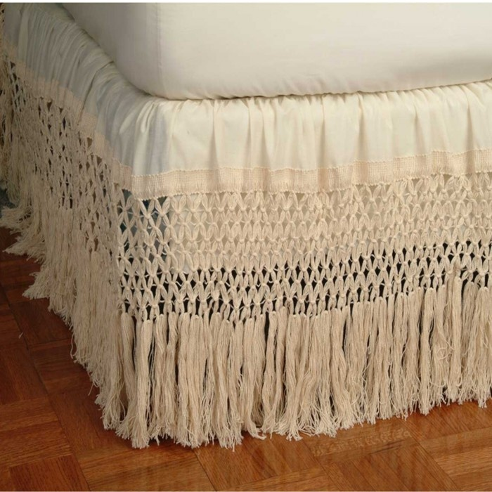 Fringe Bed Skirt Love With Woman