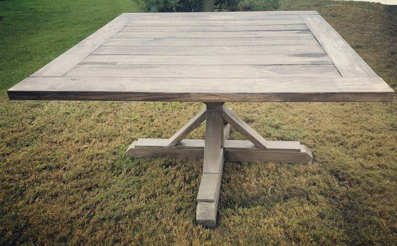 Gorgeous Gray And Jacobean Finishedn54 Inch Square Dining Table