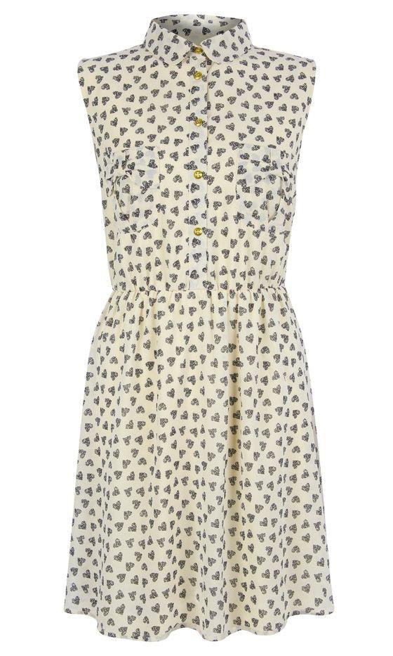 Primark SS13 Heart Print Shirt Dress, £13